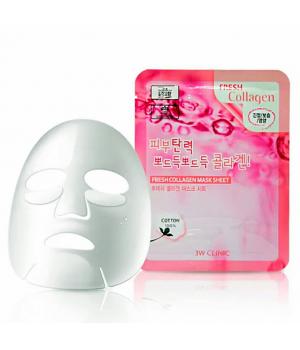 Тканевая маска для лица с коллагеном 3w clinic