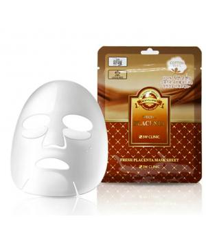 Тканевая маска для лица с экстрактом плаценты 3w clinic