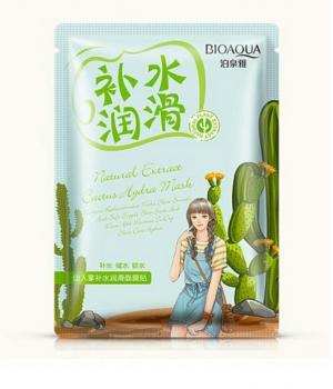 Маска для лица увлажняющая с кактусов bioaqua
