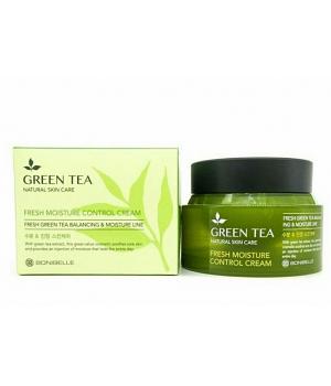 Увлажняющий крем для лица с экстрактом зеленого чая Bonibelle