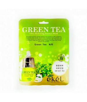 Увлажняющая тонизирующая тканевая маска с экстрактом зелёного чая ekel