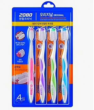 Набор зубных щеткок - Original toothpaste fine brush 4 шт