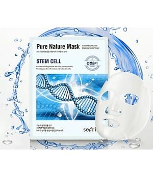 Тканевая маска для лица с растительными стволовыми клетками secriss