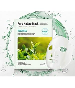 Тканевая маска с чайным деревом Secriss