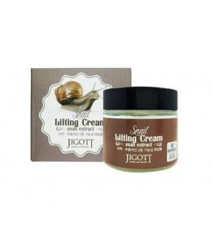 Подтягивающий крем с экстрактом слизи улитки Snail Lifting Cream Jigott